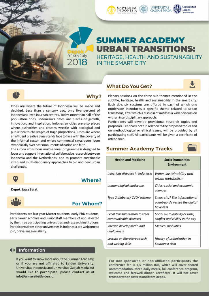 Summer Academy Urban Transitions: Heritage, Health and Sustainability in the Smart City