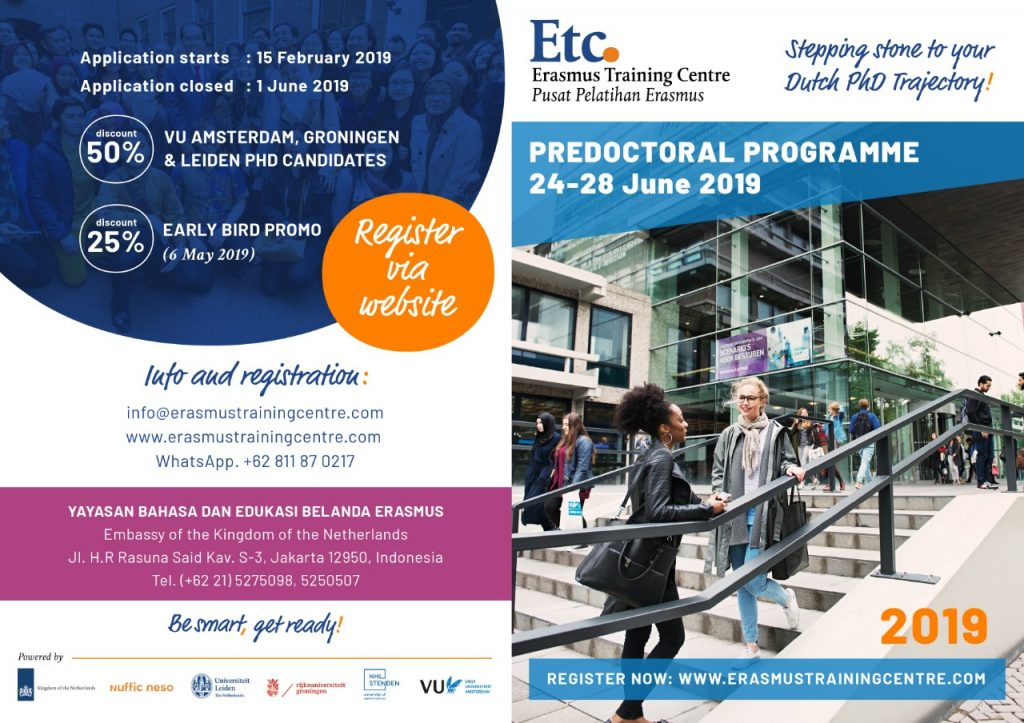 Pre-doctoral programme in Indonesia for future and potential Indonesian PhD candidates at Dutch universities.